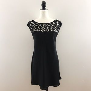 Vintage 90s Black Cocktail Dress Lace